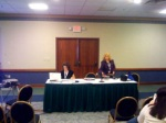 Heather and Dr. Wagner just before my presentation