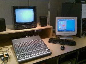 The audio station w/ audio board
