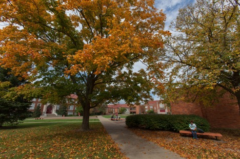 A perfect autumn day on campus