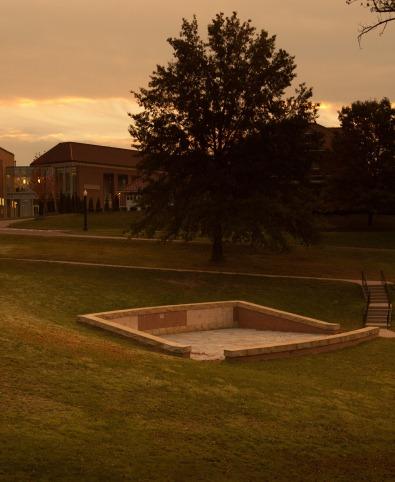 Columbarium at dusk