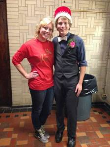 The lovely queen Libby Rahe with homecoming king Kurt Wolfe :)