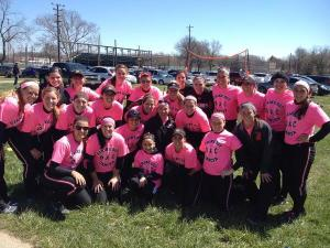 Here is a picture from our game against Baldwin Wallace Saturday. Not only did we win our first game to make us conference champions, but it was our annual strikeout breast cancer game! Such a great day to be a Muskie!